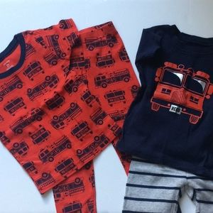 Carters 2T Fire Engine Pajama Set